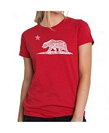 Women's Premium Word Art T-Shirt - California Bear