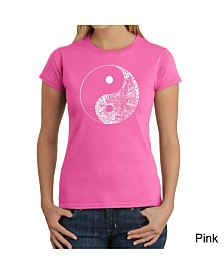 Women's Word Art T-Shirt - Yin Yang