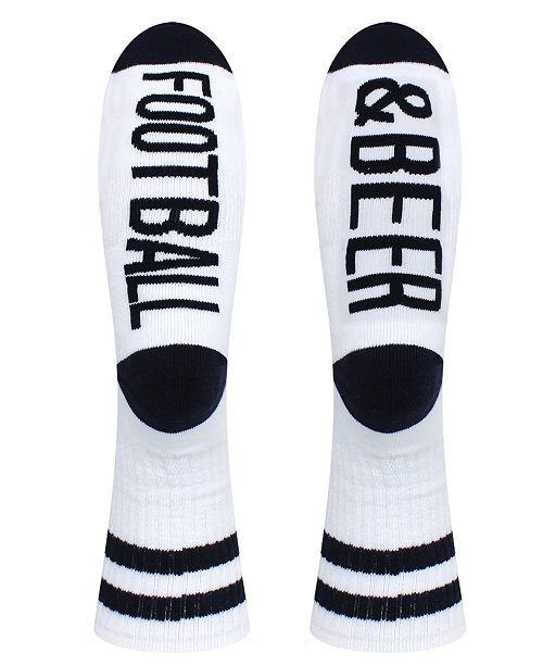 SOCK TALK Men's Crew Socks - Football and Beer