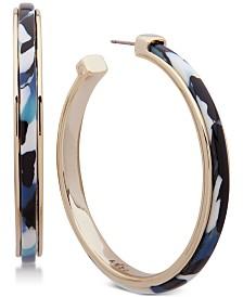DKNY Gold-Tone Multicolor Acetate Small Hoop Earrings