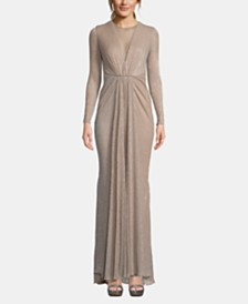 Betsy & Adam Mesh Knit Gown