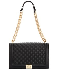 I.N.C. Ajae Quilted Flap Crossbody, Created for Macy's