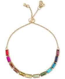 RACHEL Rachel Roy Gold-Tone Multi-Stone Slider Bracelet