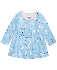 First Impressions Baby Girls Cheetah-Print Cotton Tunic, Created for Macy's