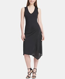 DKNY Sleeveless Asymmetric Dress
