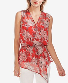 Floral-Print Asymmetrical Top