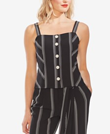 Vince Camuto Button-Down Sleeveless Top