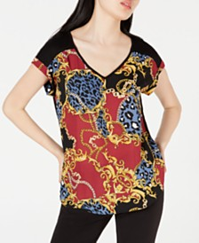 BCX Juniors' Printed Blouse