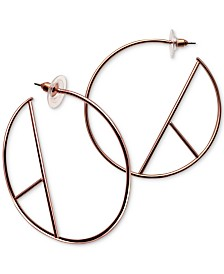 GUESS Geometric Open Hoop Earrings