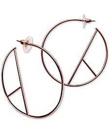 GUESS Geometric Open Hoop Earrings