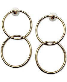 GUESS Double Circle Drop Earrings