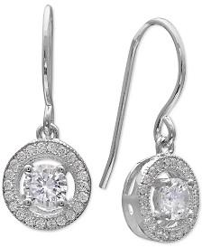 Giani Bernini Cubic Zirconia Open Halo Drop Earrings in Sterling Silver, Created for Macy's