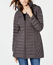 Michael Michael Kors Hooded Packable Down Puffer Coat, Created for Macy's