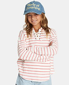 Billabong Big Girls Striped Lace-Up Hoodie