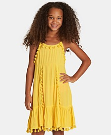 Big Girls Sunny Gazer Tassel-Trim Dress