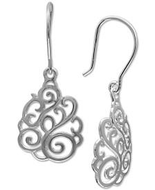Giani Bernini Filigree Drop Earrings in Sterling Silver, Created for Macy's