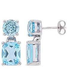 Blue Topaz (11-1/6 ct.t.w.) Dangle Earrings in Sterling Silver