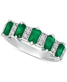 Emerald (2-3/8 ct. t.w.) & Diamond (1/6 ct. t.w.) Ring in 14k White Gold