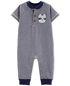 Baby Boys Striped Cotton Coverall