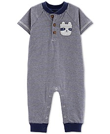 Carter's Baby Boys Striped Cotton Coverall