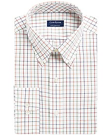 Men's Classic/Regular Fit Stretch Tattersall Dress Shirt, Created for Macy's