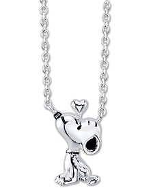 """Peanuts """"Snoopy"""" Mini Pendant Necklace in Sterling Silver for Unwritten, 16"""" + 2"""" extender"""