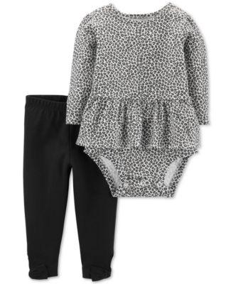 0-24 Months Love-Print Cotton T-Shirt 3-6 Months Deep Black First Impressions Baby Girls