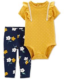 Baby Girls 2-Pc. Bodysuit & Leggings Cotton Set