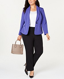 Plus Size Shawl-Collar Pantsuit