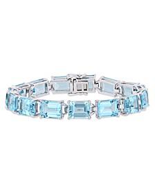 Blue Topaz (59-3/4 ct.t.w.) Tennis Bracelet in Sterling Silver