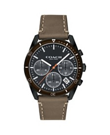 Coach Men's Thompson Sport Leather Strap Watch, 41M