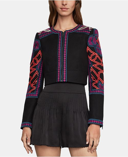 af0274cc9b BCBGMAXAZRIA Embroidered Cropped Jacket; BCBGMAXAZRIA Embroidered Cropped  Jacket ...