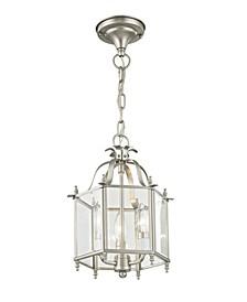 """Livingston 3-Light 15.25"""" Convertible Mini Pendant/Ceiling Mount"""