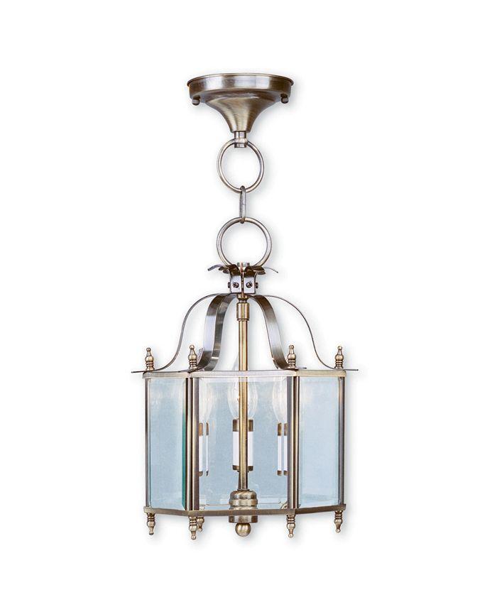 """Livex - Livingston 3-Light 15.25"""" Convertible Mini Pendant/Ceiling Mount"""