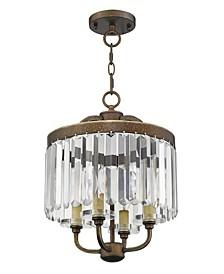 Ashton 4-Light Convertible Mini Chandelier/Ceiling Mount