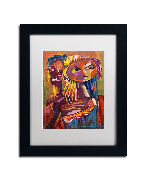 "Trademark Global Echemerdia 'Havana Couple III' Matted Framed Art Framed Art - 14"" x 11"""