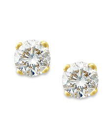 Round-Cut Diamond Stud Earrings in 10k White or Yellow Gold (1/5 ct. t.w.)