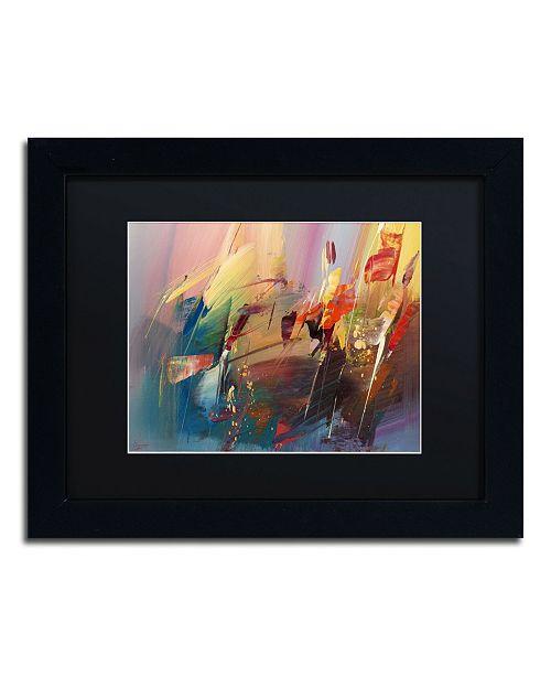 """Trademark Global Ricardo Tapia 'Garden' Matted Framed Art - 11"""" x 14"""""""