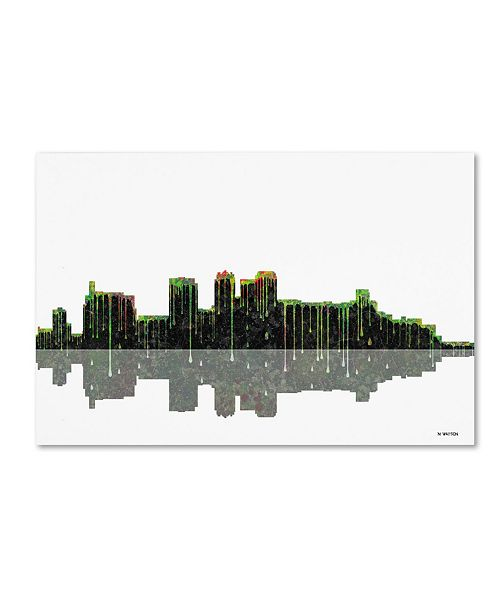 "Trademark Global Marlene Watson 'Birmingham Alabama Skyline II' Canvas Art - 12"" x 19"""
