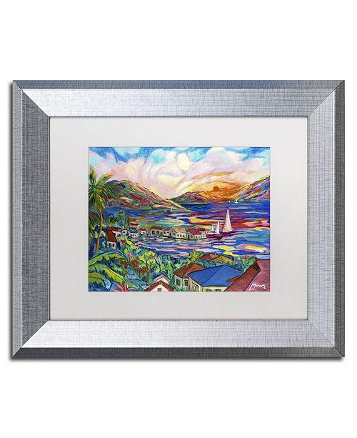 "Trademark Global Manor Shadian 'Sunset' Matted Framed Art - 11"" x 14"""