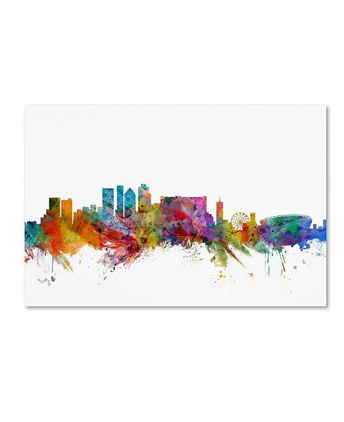 "Trademark Global Michael Tompsett 'Cape Town South Africa Skyline' Canvas Art - 12"" x 19"""