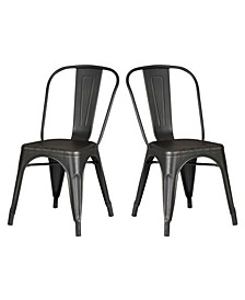 Modern Metal Kitchen Dining Chair, Set of 2