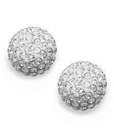 Swarovski Earrings 22k Gold Plated Crystal Stud