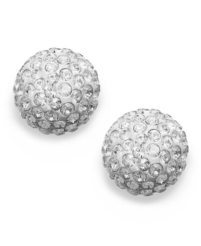 Swarovski Earrings 22k Gold Plated Crystal Stud