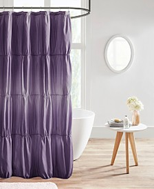 Intelligent Design Ellen Ruched Ombre Printed Shower Curtain