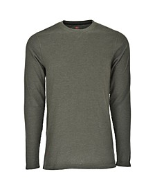 Hanes Men's Sueded Mini Waffle Knit Crew