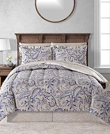 CLOSEOUT! Livingston Reversible 8-Pc. Comforter Sets