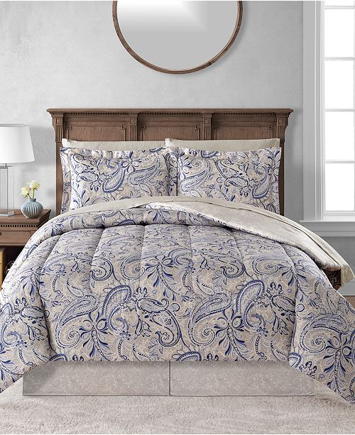 Fairfield Square Collection CLOSEOUT! Livingston Reversible 8-Pc. Comforter Sets