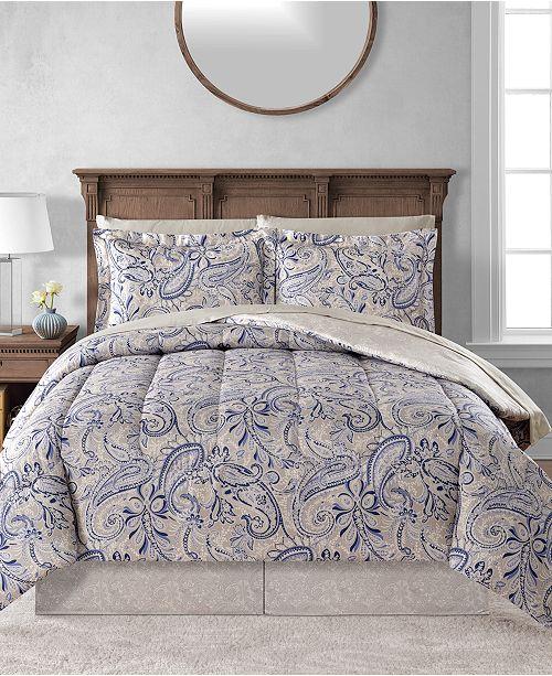 Fairfield Square Collection CLOSEOUT! Livingston Reversible 8-Pc. Comforter Sets