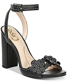 Merle Studded Floral Dress Sandals